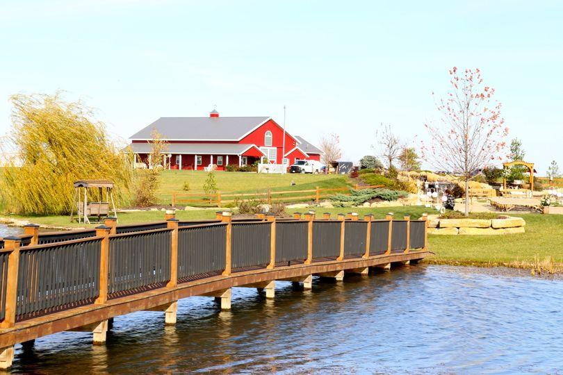 Bridge and lake
