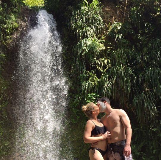 Waterfall kisses
