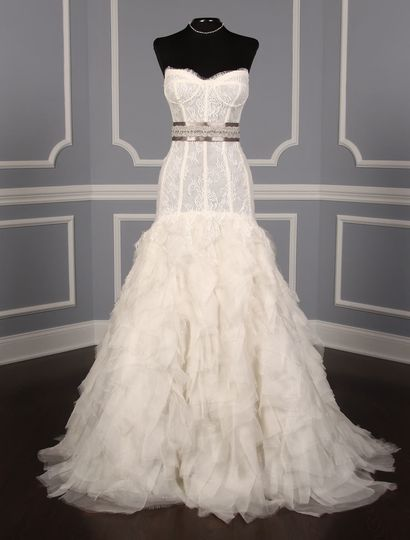 This Monique Lhuillier Marquee wedding dress Platinum Collection is gorgeous!  The gown has an...