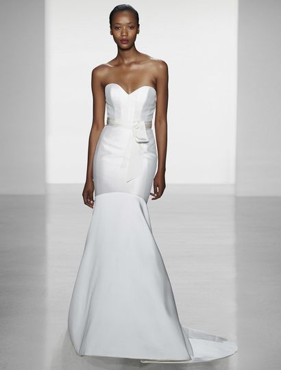 This Amsale Blake A652 wedding dress is such a beautiful gown to wear down the aisle!  The...
