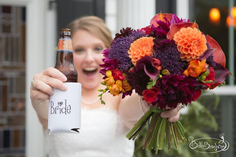 Flowers and beer
