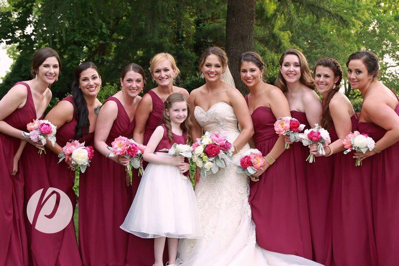 Magenta themed wedding