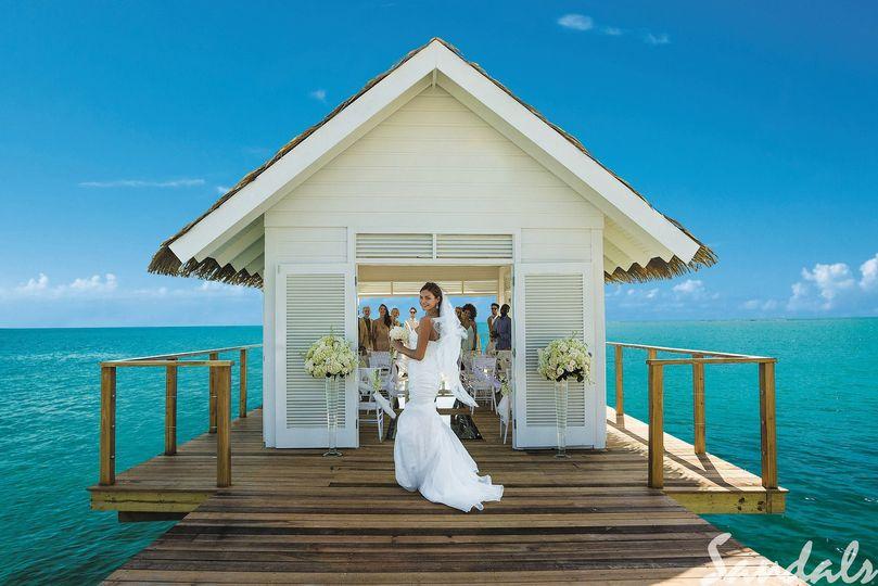 Wedding chapel at Sandals Jamaica