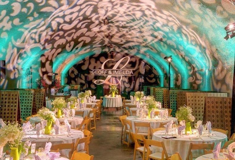 Gloria Ferrer Wine Cave wedding July 2015 Lighting/ DJ services by Deejaypros