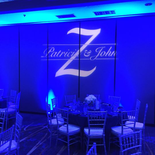 Foster City Crowne Plaza wedding Sept 2015 Lighting/ Photo Booth/ DJ services by Deejaypros