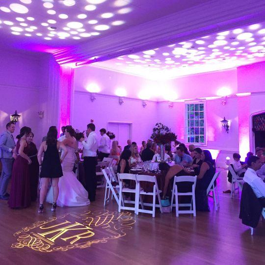 Hillsborough Racquet Club Wedding Sept 2015 Lighting/ DJ services by Deejaypros