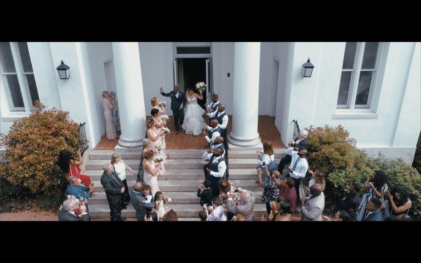 A high view of the wedding party - Tre Flix Productions