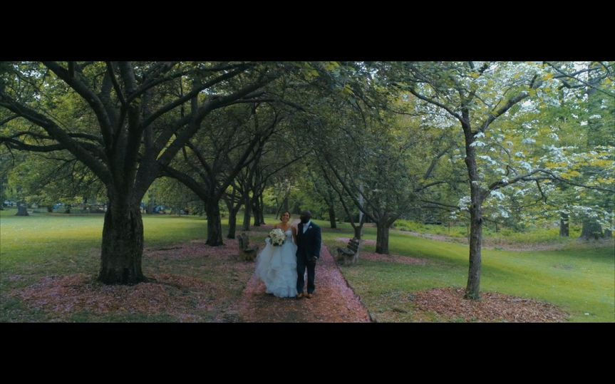 Wedded couple strolling together - Tre Flix Productions