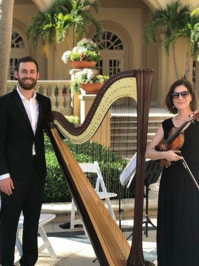 Our harpist, Chris!