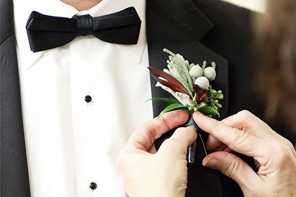 Tuxedo with boutonniere
