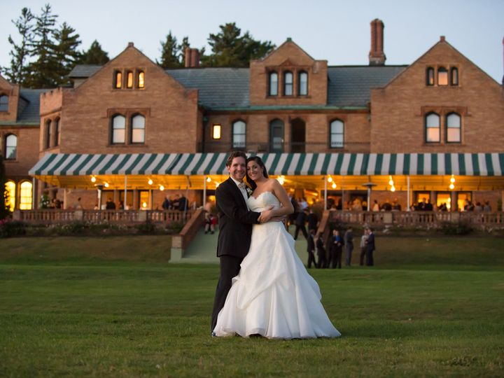 Tmx 1509644680546 Tm Couple Outside Rose Terrace Evening Reception Lenox, New York wedding venue