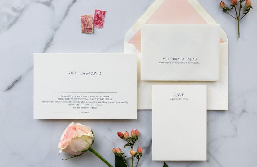 Modern minimalist invitations
