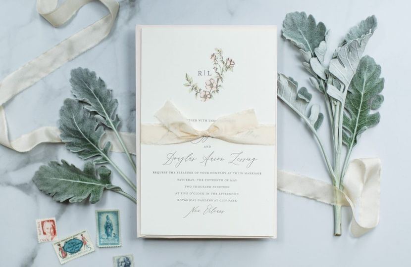 Sweetbriar letterpress invite