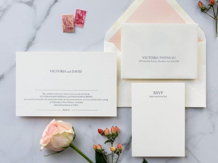 Tmx Minimalist 1 1231x800 51 1052609 New Orleans, LA wedding invitation