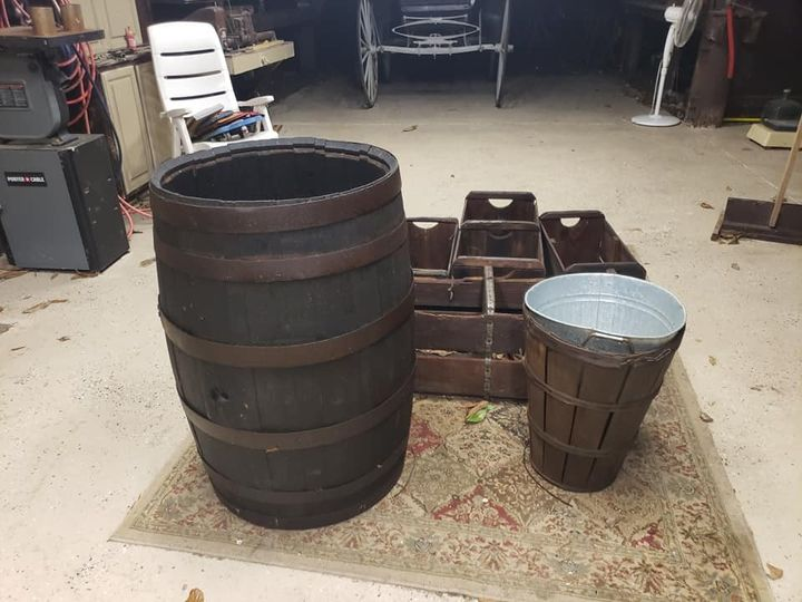 Real antique whiskey barrel