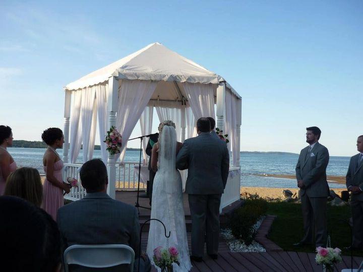 Outdoor wedding ceemony