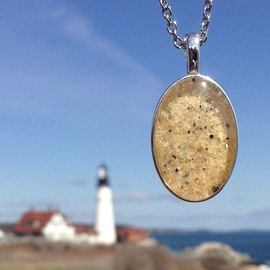 Beach Sand Oval Necklace