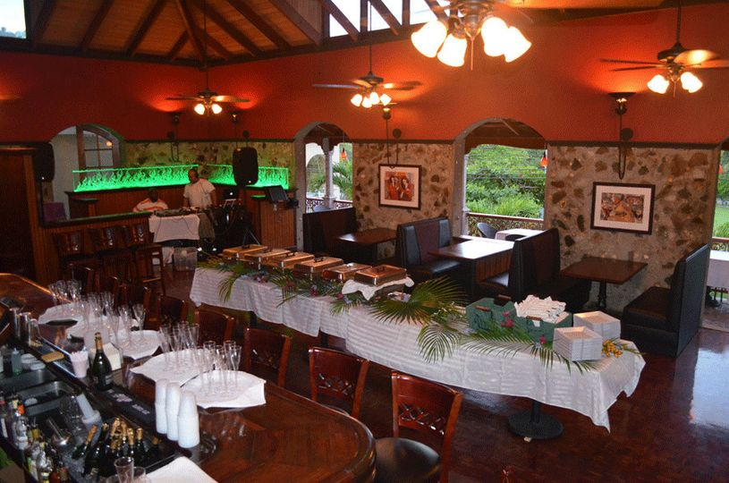 Here is a double sided buffet line set up for a party of 175 persons.