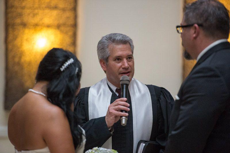 Officiant speaking