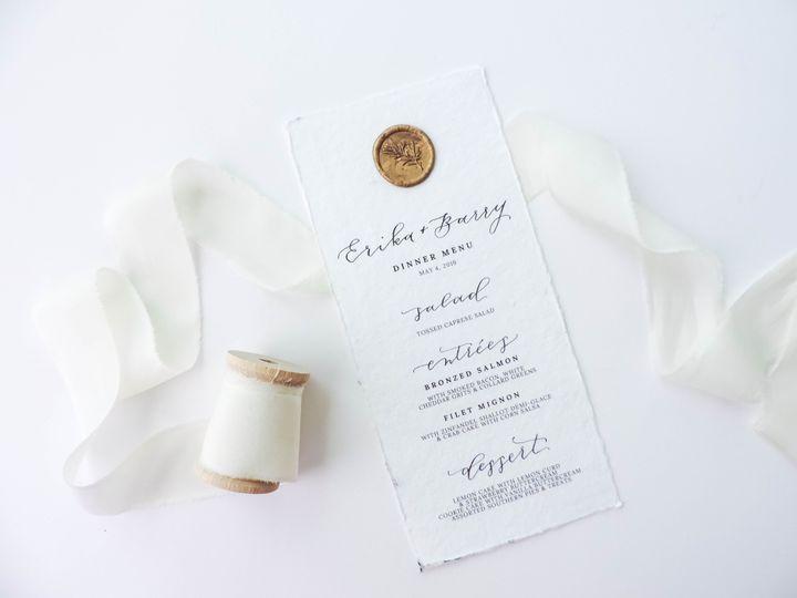Cardstock menus