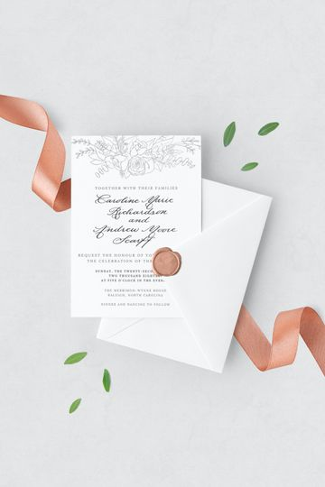 Floral Dreams invitation suite