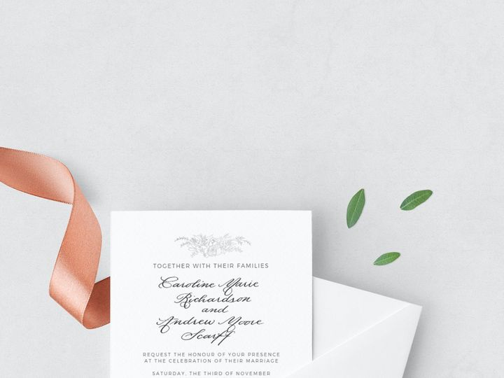 Tmx Ss Botanical 51 777609 1570028587 Raleigh, NC wedding invitation