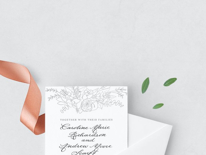 Tmx Ss Floral 51 777609 1570028723 Raleigh, NC wedding invitation