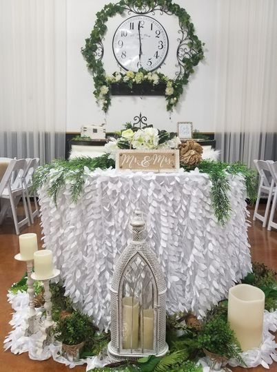 Rustic couples table