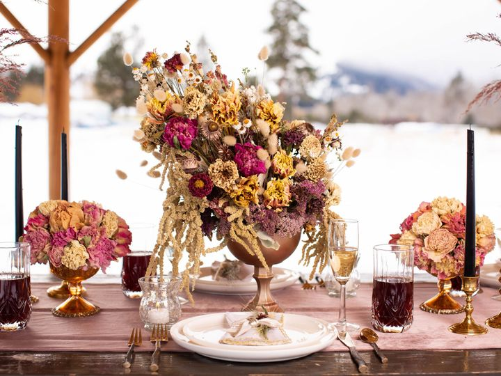 Tmx Missoula Montana Florist Wedding Flowers Dried Flower Table Scape Large Table Arrangement 51 1049609 Florence, MT wedding florist