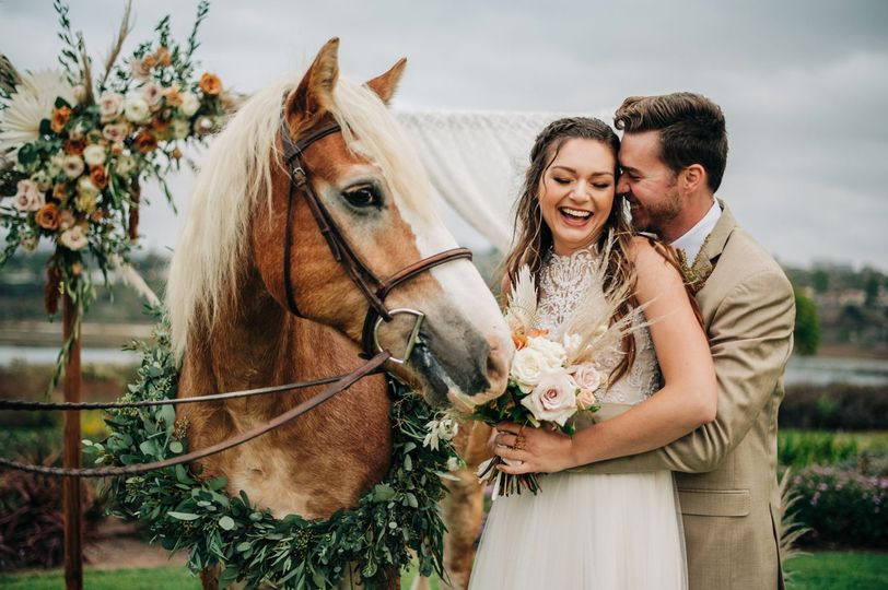 Couple with Horse