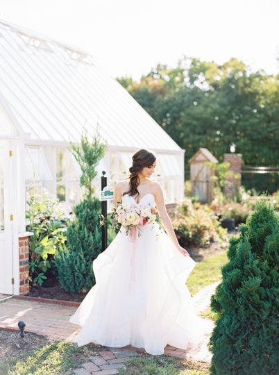 Bride Portraits in the Gardens