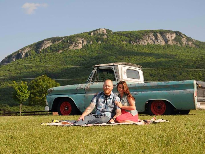 Tmx 1428638496821 Truck With Mountain Sitting On Blanket Westfield, NC wedding venue