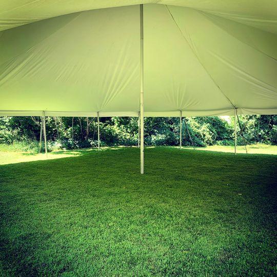 Blank canvas pole tent