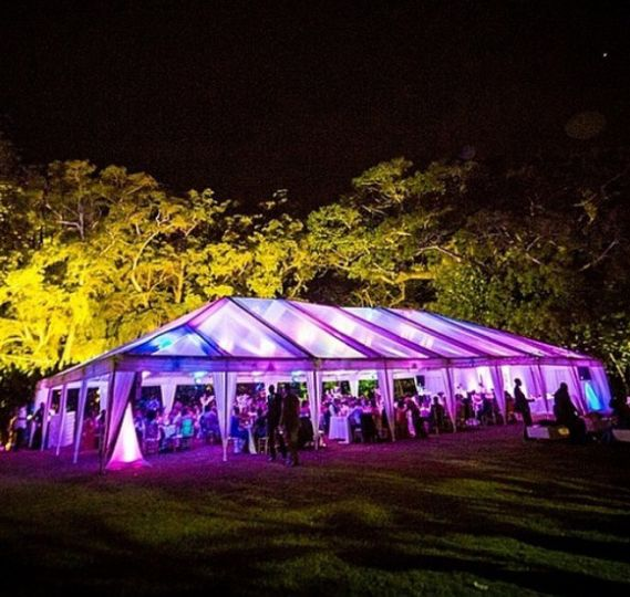 Cleartop tent & lighting