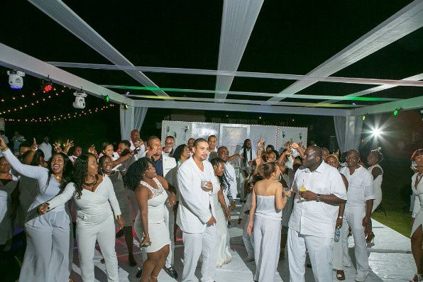All White Wedding, Dancefloor, Open Air Concept