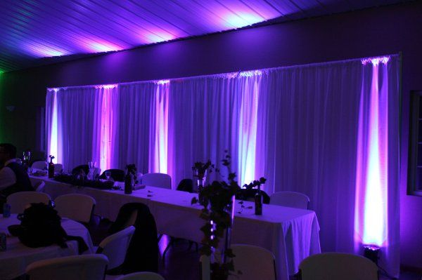 Architectural lighting behind the head table