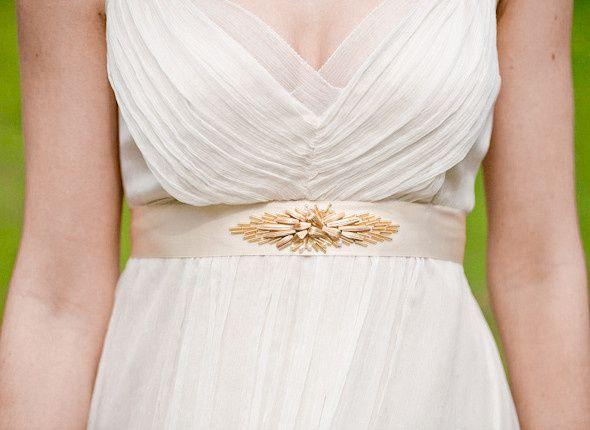 deco belt wedding hushed commotion front