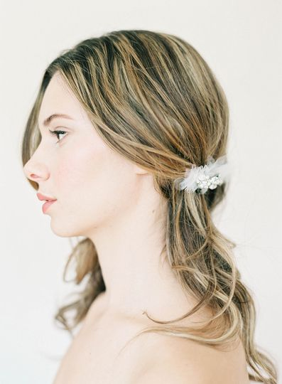 tulle and crystal hair comb hushed commotion sid