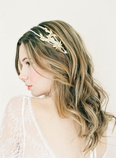pearl and gold double headband hushed commotion si