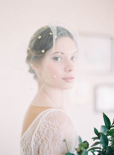 blusher veil with gold detail hushed commotion sid