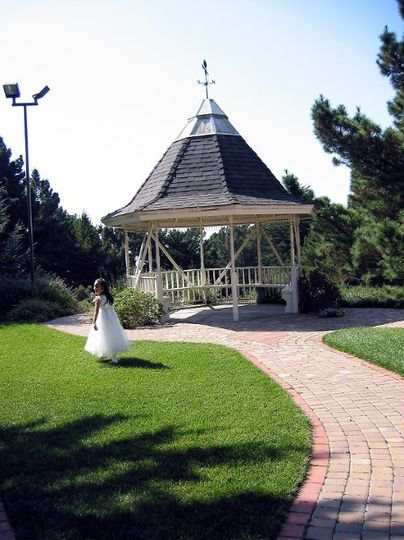 Our Gazebo Garden may be used for serving refreshments or kept for picture taking only.