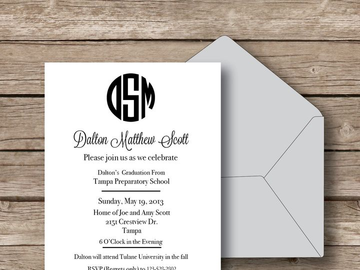 Tmx 1393184289226 Circle Monogram Invit Apex wedding invitation