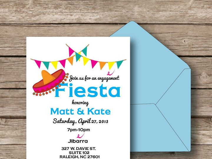 Tmx 1393184336449 Fiesta Invit Apex wedding invitation