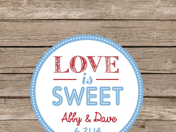 Tmx 1393184354498 Love Is Sweet Sticke Apex wedding invitation
