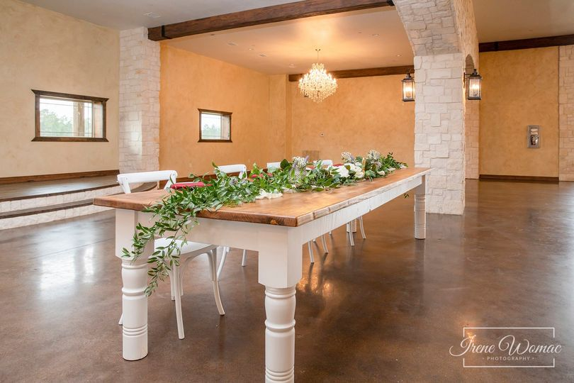 Reception Hall Farmhouse Table