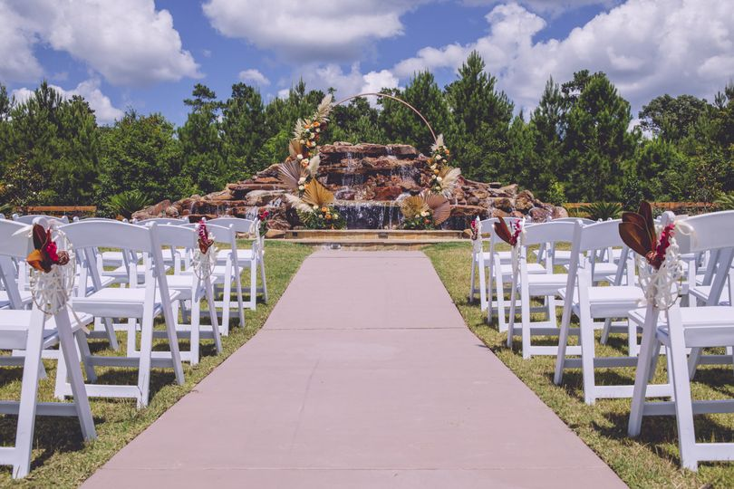 Ceremony Site at Waterfall