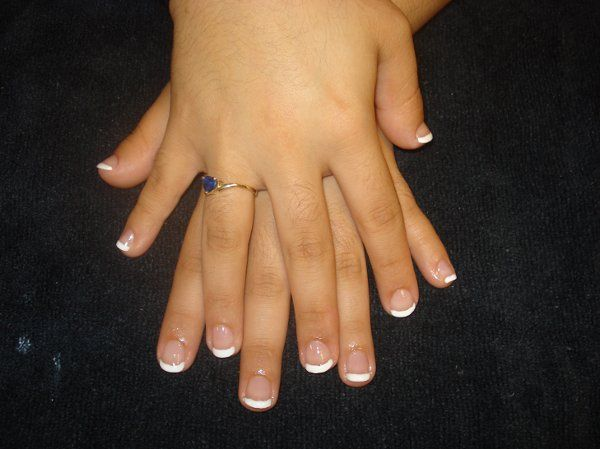 Natural French Manicure.