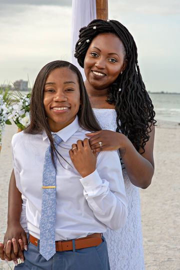Upham beach wedding with Gulf