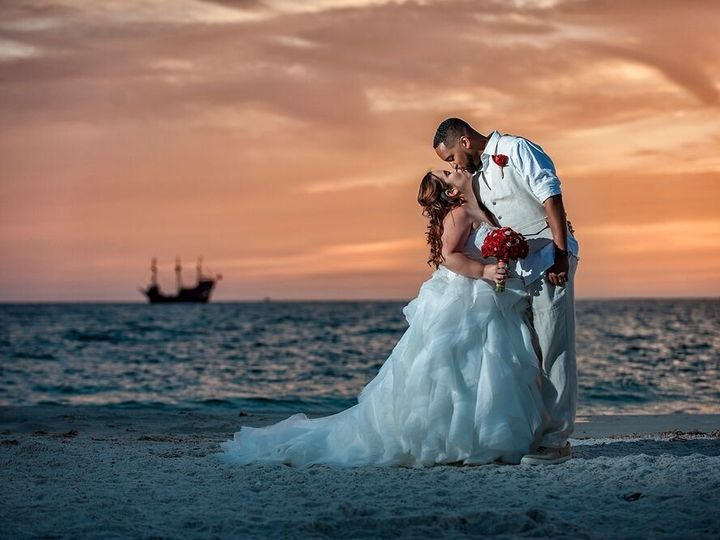 Tmx 1500782659877 Shawnaandarthuraclearwaterbeachwedding0118web Tampa, Florida wedding officiant