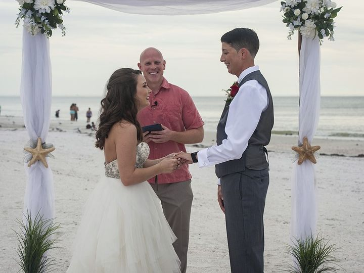 Tmx 1511322829848 Brittneyandjessicaapass A Grillebeachwedding040web Tampa, Florida wedding officiant